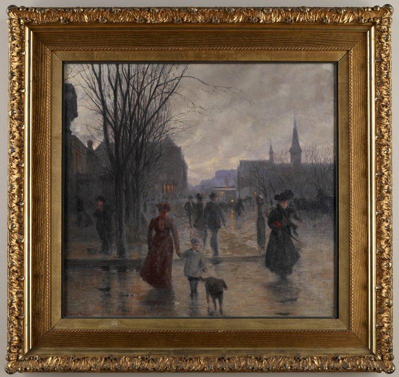 Minneapolis Painters: Rainy Evening On Hennepin Avenue, Robert Koehler ˆ Mia