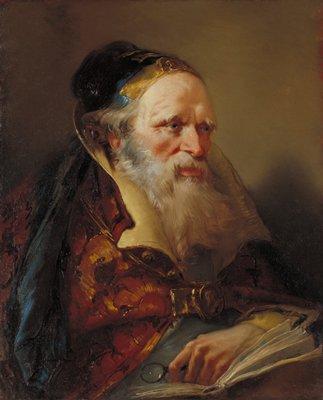 Portrait of philosopher, scholar - head