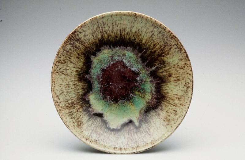 green glaze with local reduction