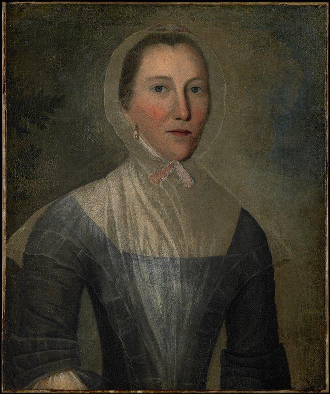 Half-length portrait of a woman.