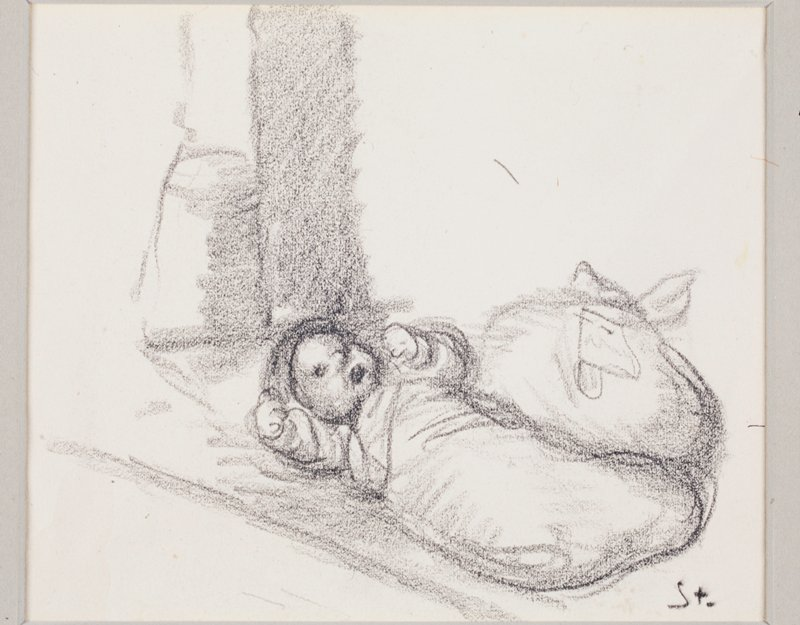 Study for an illustration to the poem 'Epitaphe pour n'importe qui' by Jean Richepin