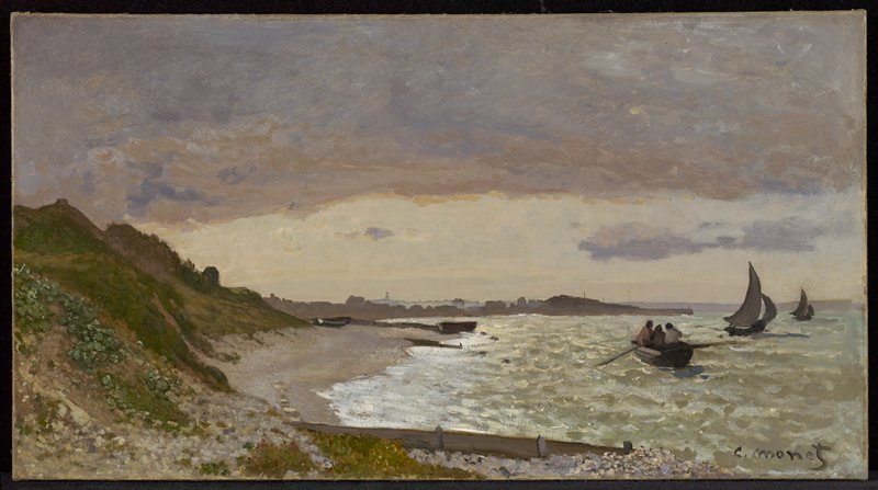 Impressionist. Landscape with coast.