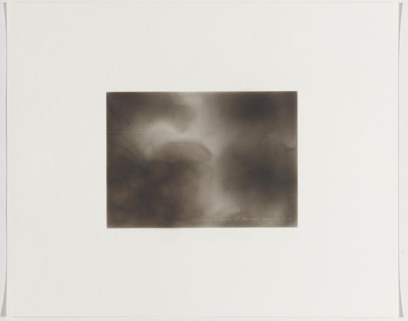 smokey grey ground; straight white line