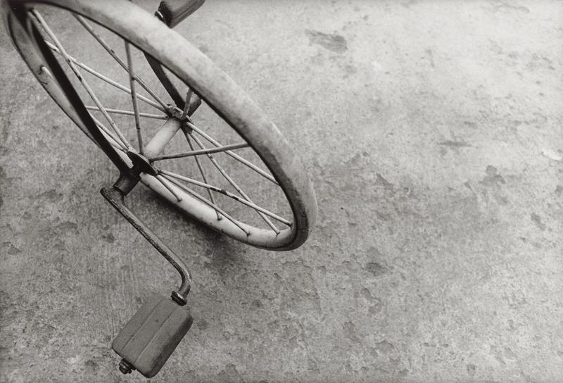 front wheel of tricycle, with pedals