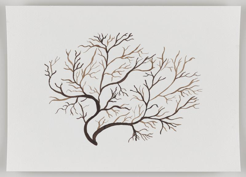 treelike form with even branching in brown