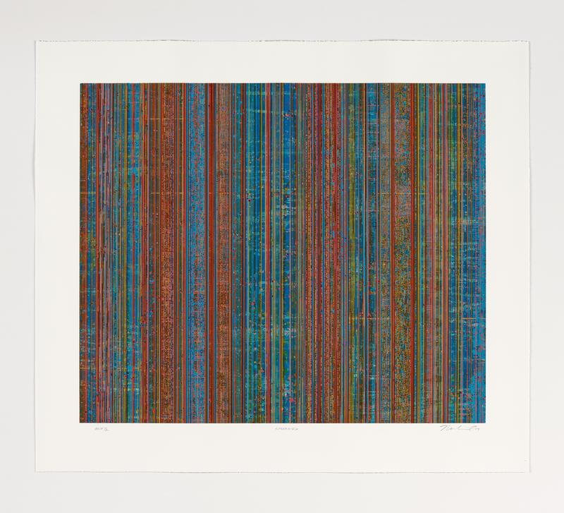 16-color lithograph and screenprint.