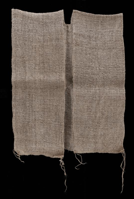 tightly knitted vest with open sides and open front; oatmeal/grey color