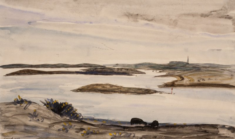 Similar scene etched under title 'Petit Port of Seine' No.133 Delteil Catalogue