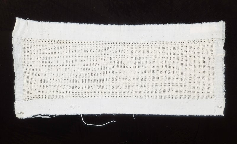 Small piece of fine drawn-work. Lace.