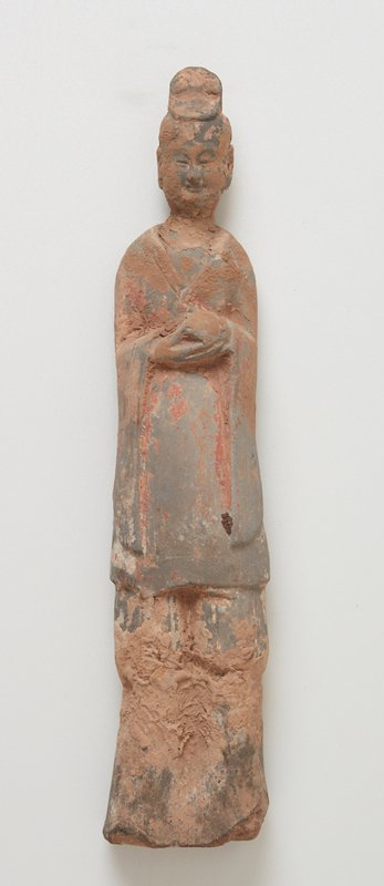 Attendant, standing figure, small. Black stand.
