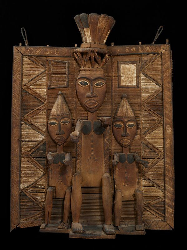 Ekine Society Memorial Screen (called 'Duen Fobar'); wood and raffia with traces of pigment Nigeria,Ijo Tribe,late XIXc. Abonnema Village