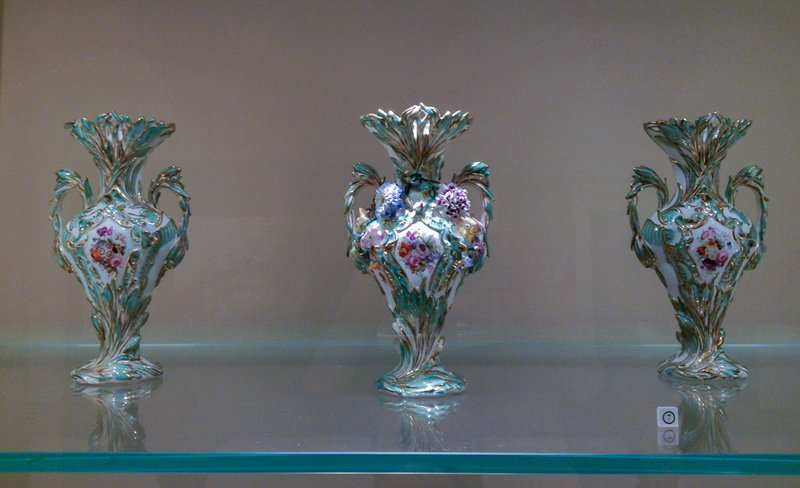 vase (part of Garniture), ceramic-porcelain