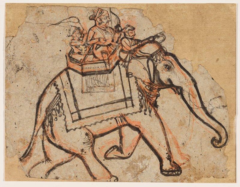 illustration from a Ramayana series; Kotah