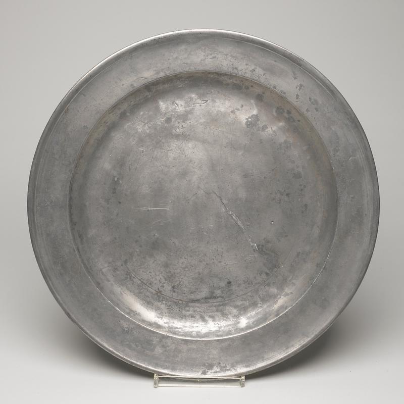 Platter, pewter