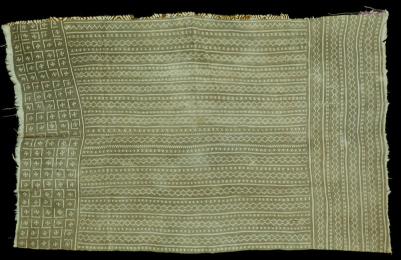 mudcloth skirt; Fuag Feere or public square design in this cloth is typical of village of Nerekoro