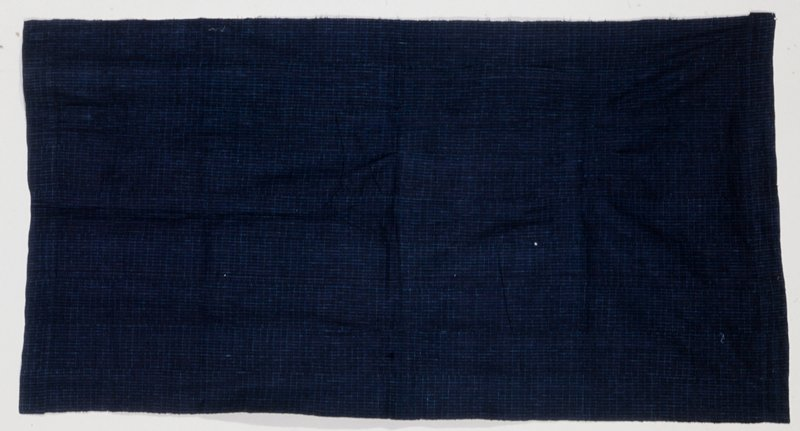 panel, blue and white strip cloth; cotton