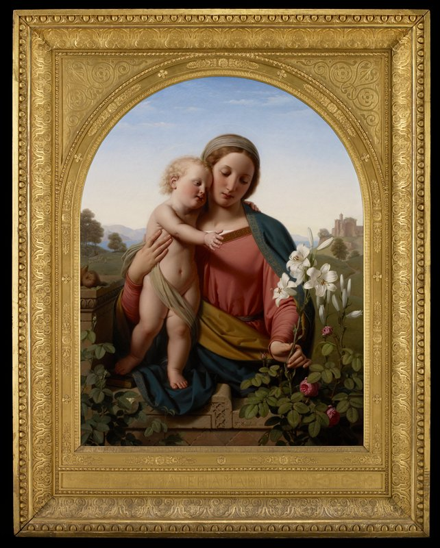 Frame probably designed by the artist. It is inscribed 'Mater Amabilis' meaning 'Mother worthy of Love'