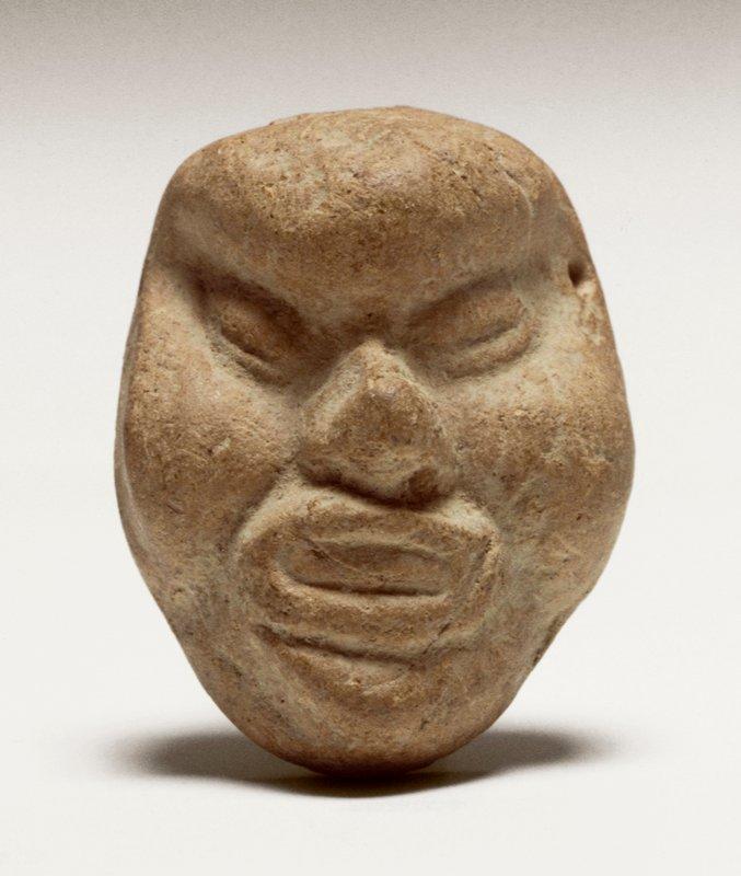 Miniature mask, ceramic Mexico, Huastec, c. 500 BC