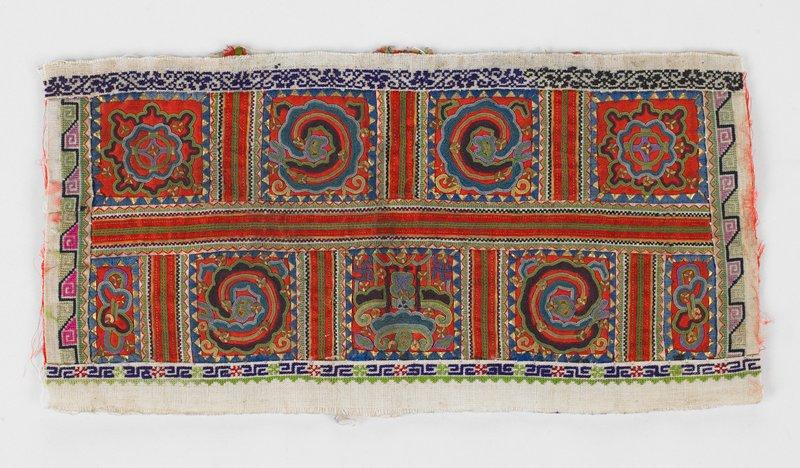 Sleeve Panel, silk, cotton, metal, embroidery
