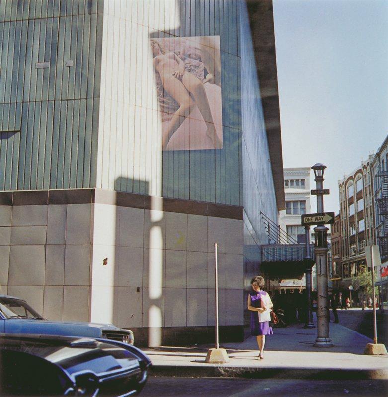 multiple exposure nude on building, Providence