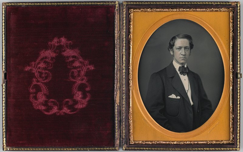 daguerrotype-half plate, in leather case
