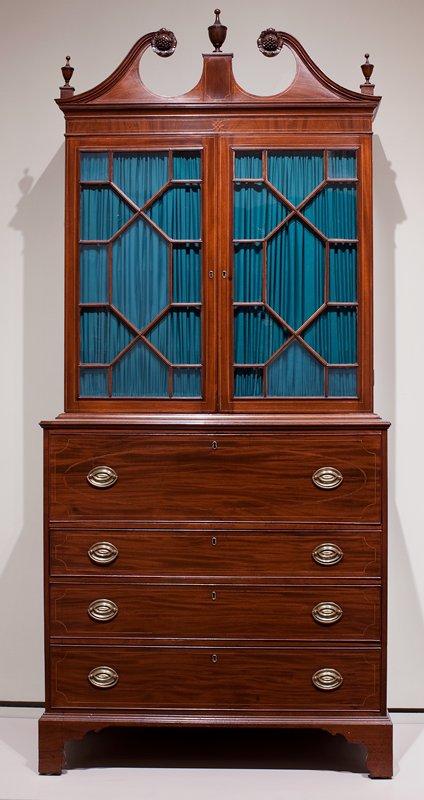 Secretary, ca.1775-1780; Jacob Sanderson removed as maker per request of Dec. Arts, 2/19/98