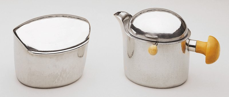 Silver (800#) with ivory handles