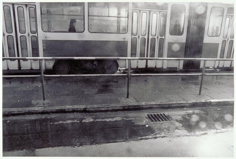 train, single passenger in window