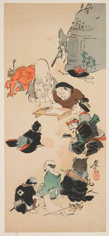 ōtsu-e style print
