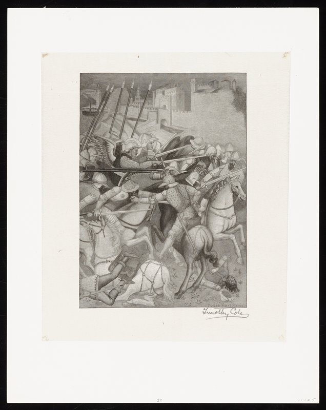 Battle of the St. Ephesius Against the Pagans of Sardinia, after Spinello, Compo-Santo, Pisa