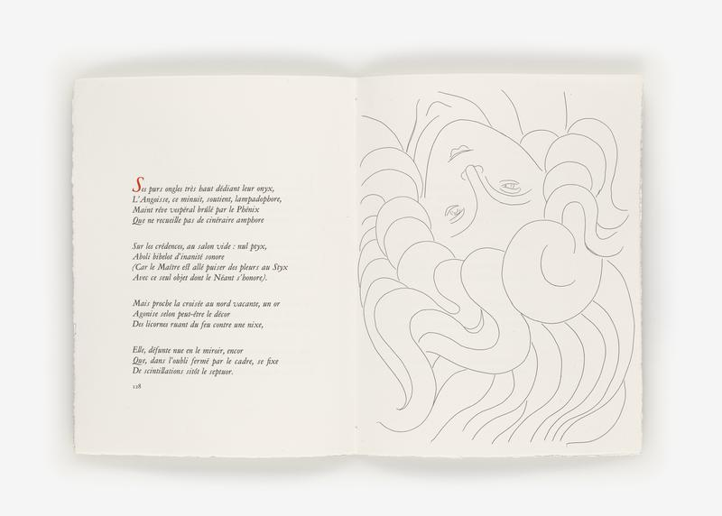 Illustrated unbound book Poésies (Poems) by Stéphane Mallarmé with 29 etchings by Henri Matisse