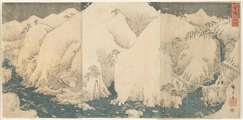 vertical ōban triptych
