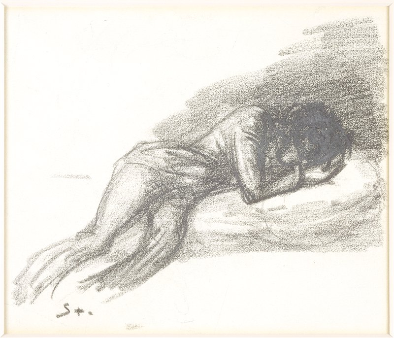 Study for an illustration to the poem 'Cimetiere intime' by Jean Richepin