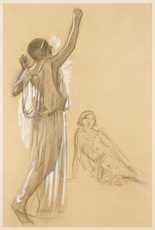 Note: a light sketch of seated figure on verso in charcoal